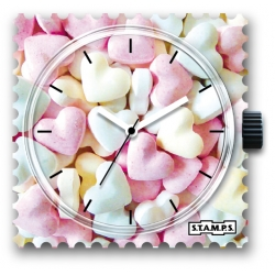 27 € Cadran Montre Stamps SWEET HEARTS