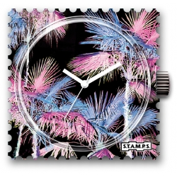 35 € Cadran WR Montre Stamps MIAMI PINK