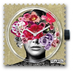 28 € Cadran Montre Stamps HEAD FULL OF FLOWERS