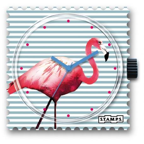 27 € Cadran Montre Stamps PINK FLAMINGO