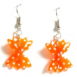16 € Boucles d'Oreilles POIS Orange