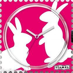 24 € Cadran Montre Stamps BUNNY LOVE