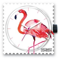 27 € Cadran Montre Stamps PINK FEATHERS