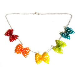19 € Collier FARFALLES Multicolores