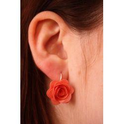 """19 €  B.O """" Rose """" Argent Origami Orange"""