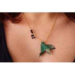 """   29 €  Collier "" COLOMBE "" Origami"