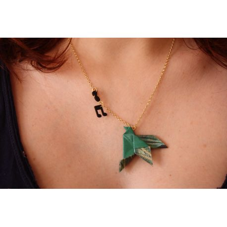 """""""   29 €  Collier """" COLOMBE """" Origami"""
