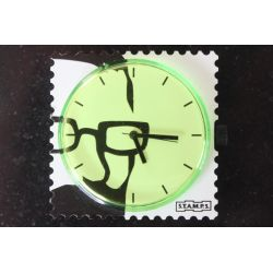 27 € Cadran Montre Stamps GREEN GLASSES