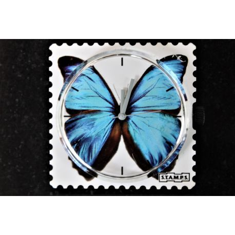 32 € Cadran Stamps BLUE BUTTERFLY ... Vous Gagnez  3€ !