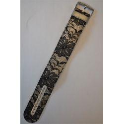 22 € Bracelet Cuir Lace Dentelles Noires ... VINTAGE  T.B. Etat  RARE !